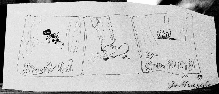 speedy ant cartoon