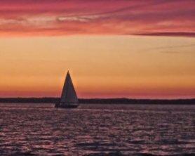 sunset sail boat