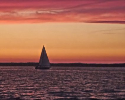 sunset sail boat